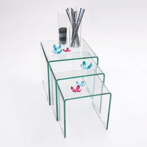Mesa de centro nido transparente